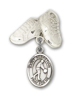 ReligiousObsession's Sterling Silver Baby Badge with Our Lady of San Juan Charm and Baby Boots Pin >>> Check this awesome product by going to the link at the image. (This is an affiliate link) Diamond Jewelry, Gold Jewelry, Women Jewelry, Jewellery, St Michael Pendant, Baby Boots, Ankle Bracelets, Charm Bracelets, Our Lady