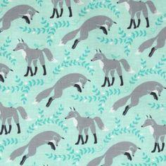 Michael Miller Les Amis Socks The Fox Aqua (white sock crafts) Fox Fabric, Aqua Fabric, Fabric Animals, Wall Fabric, Tissu Michael Miller, Michael Miller Fabric, Sock Crafts, Sewing Crafts, Aqua Background