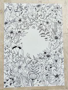 Botanical Line Drawing, Floral Drawing, Botanical Drawings, Botanical Illustration, Illustration Art, Bullet Journal Art, Bullet Journal Inspiration, Flower Doodles, Floral Illustrations