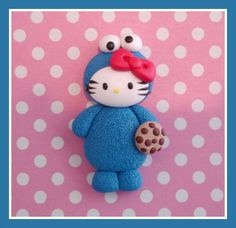 Candyland Beads - Polymer Clay Beads and Bow Centers Hello Kitty Cookies, Cookie Monster Party, Party Themes, Party Ideas, Polymer Clay Charms, Candyland, Clay Projects, Sanrio, Smurfs