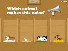 "Bible Games for Kids | ""Moo moo"" ~ which animal makes this noise? Wanna find out, download this free game for FREE, available on the AppStore! http://www.littlehalogames.com/free-games/  #bible #games #kidmin #free"
