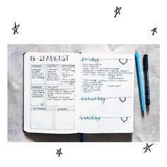 Some Bullet Journal inspiration and layout ideas. This time: My Weekly Spread! #bulletjournal #ideas #layout #inspiration