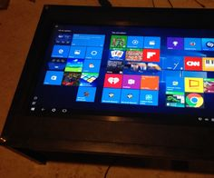 Microsoft Surface Hub on the Cheap: Touchscreen Coffee Table