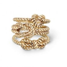 nautical knots ring set / c. wonder
