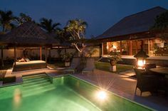 One main house and a honeymoon suite at the Villa Indah Manis. Looks good to me.