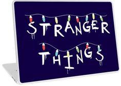 """Stranger Things"". You recognize this from Will's Mother's Wall! For who loves Eleven (Millie Bobby Brown), Mike (Finn Wolfhard), Dustin (Gaten Matarazzo), Lucas (Caleb McLaughin), Will (Noah Schnapp), Joyce (Winona Ryder), Chief Hopper (David Harbour). #strangerthings, #netflix #strangerthingsfan #nerd #geek #friendsdontlie #eleven #mike #dustin #lucas #chiefhopper #hawkins #upsidedown #dungeonsanddragons #laptop #laptopcase #case #laptopskin Stranger Things Lights, Don T Lie, Xmas Lights, Winona Ryder, Nerd Geek, Millie Bobby Brown, Laptop Skin, Dungeons And Dragons, Netflix"