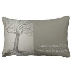 Kissen Naturmotiv Baum Var 2 mit Sinnspruch