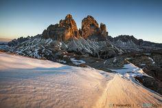 Drei Zinnen at dawn by Francesco Vaninetti on 500px