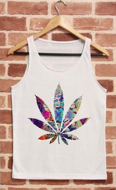 Weed Shirt Marijuana Cannabis Shirt Tank Top TShirt by CrazyTop, $14.99