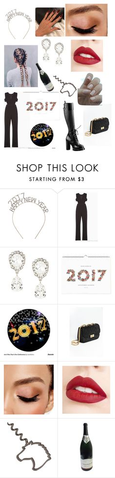"""""""Celebrating 2017. My way!!!"""" by novastar111 ❤ liked on Polyvore featuring BCBGMAXAZRIA, Dolce&Gabbana, Rifle Paper Co, Avon and Jouer"""