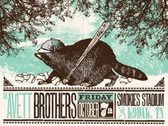 Avett Brothers | Status Serigraph | Oct 2011 - Sevierville #THERE