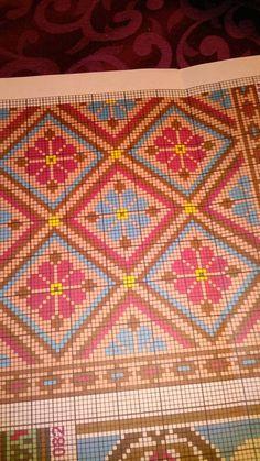 Cross Stitching, Cross Stitch Embroidery, Embroidery Patterns, Tapestry Crochet Patterns, Knitting Patterns, Mochila Crochet, Bargello, Tapestry Weaving, Cross Stitch Flowers