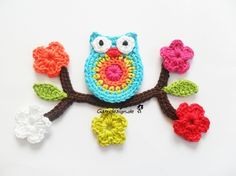 crochet .... colorful owl