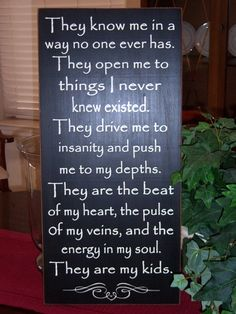 They Are My Kids Quote Wood Sign Subway Art by SnickerdoodleSigns, $62.95