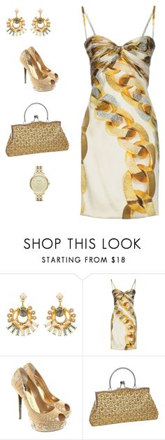 """golden girl"" by ludopolier ❤ liked on Polyvore featuring Elizabeth Cole, Roberto Cavalli, Philipp Plein and Kate Spade"
