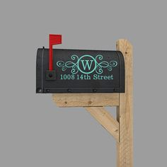 Impress your neighbors with this personalized vinyl decal for your mailbox!