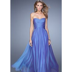 Blue, Purple La Femme 21257 Iridescent Chiffon Gown for $278.00