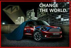 Super hero mini so cool Mini Usa, Mini Mini, Mini Paceman, Car Insurance Tips, Mini Countryman, Ads Creative, Car Advertising, Mini Cooper S, Small Cars