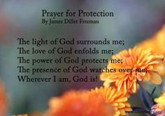 Prayer for Protection-it can't hurt :) everybody bring your guardian angles w/you today. That's what there for