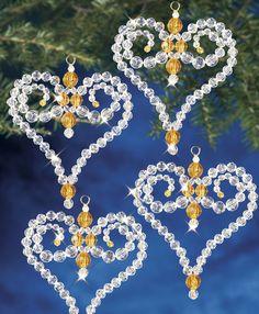 Beadery Holiday Ornament Kit Victorian Heart #7368
