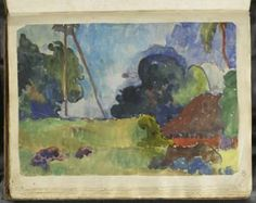 Paul Gauguin Album Noa-Noa Paysage polynésien