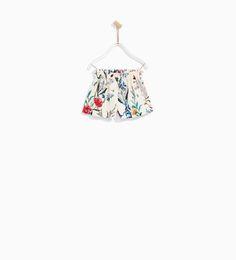 マルチカラーフラワー柄プリント地バミューダ-スカート & ショートパンツ-ベビーガール (3ヶ月- 4歳)-キッズ | ZARA 日本