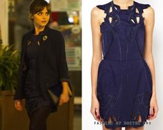 Clara Oswald - Listen Alice McCall Blue Sea Rose Dress with Cutwork