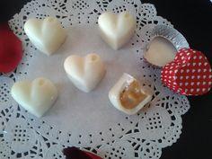 Cuori di cioccolato bianco con cuore goloso ,ricetta san valentino