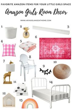 Decorating a room for a little girl means so many fun options! Check out these amazing finds from Am Kids Bedroom Sets, Room Decor Bedroom, Girls Bedroom, Bedrooms, Bedroom Ideas, Girls Room Wall Decor, Comfy Bedroom, Childrens Bedroom, Dorm Room