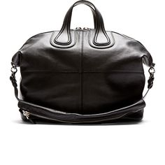 Givenchy Black Leather Nightingale Tote Bag, Men's Fall Winter Fashion.