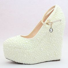 6f8eb5afb2a3 custom design ivory wedge wedding shoes by KissCrystalShoes