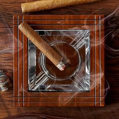 Fancy - Mahogany and Crystal Ashtray by Tommy Bahama  http://fancy.to/md81vo