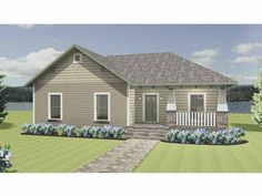 Eplans Craftsman House Plan - Big Family Style On a Small Budget - 1541 Square Feet and 4 Bedrooms(s) from Eplans - House Plan Code HWEPL68002