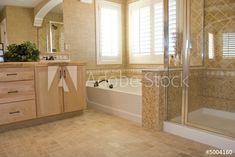 Luxury Bathroom Design Ideas (Photo 9 of to find custom home design ideas, decoration advice and get inspired. Having a minimalist house is not really bad idea. Best Bathroom Flooring, Best Bathroom Tiles, Small Bathroom, Bathroom Layout, Granite Bathroom, Bathroom Vinyl, Bathtub Tile, Bathroom Vanities, Warm Bathroom