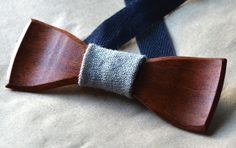 Wooden Bow Tie by ChestnutDesign on Etsy, $36.00