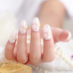 mariée faux ongles conseils fleur perles nail stickers faux ongles conseils filles accessoires beauté