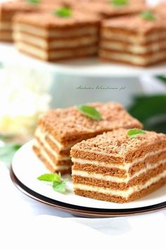 Polish Desserts, Polish Recipes, Cheesecake Recipes, Dessert Recipes, Homemade Cakes, No Bake Cake, Finger Foods, Sweet Recipes, Sweet Tooth