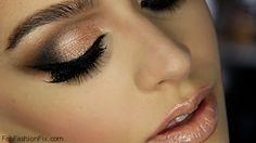 Bronze smokey eyes make-up look