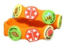 Medical ID bracelet for children with allergies! ((what a cute idea))