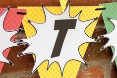 Super Hero Birthday Banner Avengers Birthday by RockyMountainMama1