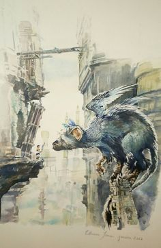 "Arnaud on Twitter: ""My aunt just offered me this (watercolor painting)... I don't have the words... #TheLastGuardian / @fumito_ueda @genDESIGN_Inc @yosp https://t.co/fu3RWV9mCp"""