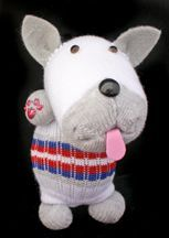 Many soft toys made from socks, with clear directions