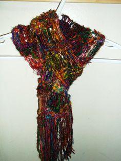 sari silk scarf.  very cool!