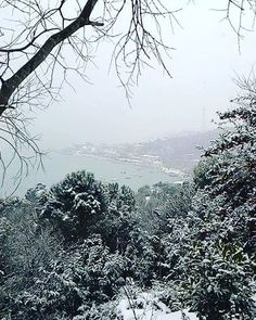 View from Bogazici University of white İstanbul :) #winter #istanbul