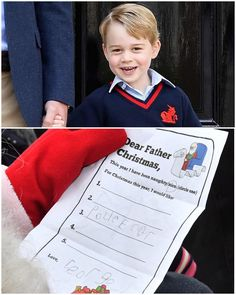 """During Prince William's visit to Finland today, he presented Santa Claus with Prince George's Christmas list. 11/2017"