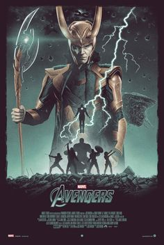 "Marvel's ""The Avengers"" by Marko Manev: https://greymatterart.com/blogs/news/marvels-the-avengers-by-marko-manev  #TomHiddleston #Loki #Avengers"