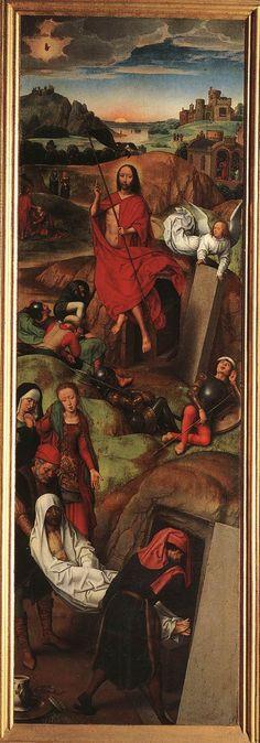 renaissance-art-blog:  Passion (Greverade) Altarpiece (right wing) via Hans Memling  Medium: oil wood
