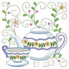Tea Time Blocks 2, 8 - 3 Sizes!