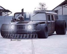 Sick rat rod diesel hummer from facebook