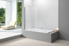 Buy Merlyn Ionic Two Panel Folding Bath Screen, x Glass today. Merlyn Part No: Free UK delivery in approx 10 working days. Next Bathroom, Bathroom Tiling, Bath Screens, Shower Screens, Contemporary Shower, Victorian Bathroom, Safety Glass, Shower Enclosure, Chrome